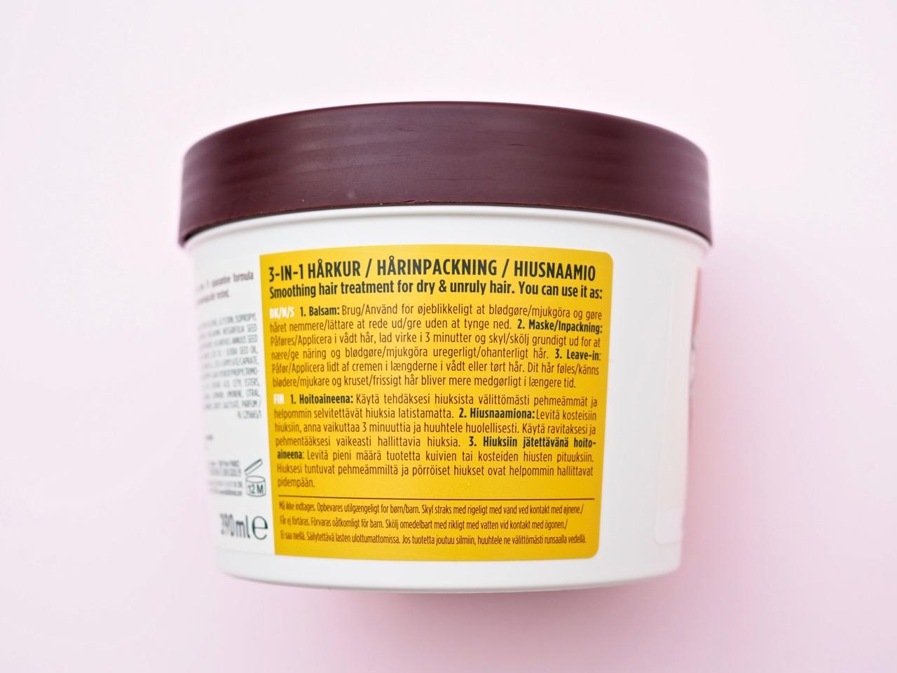 garnier hair food macadamia kokemuksia Ostolakossa Virve Fredman