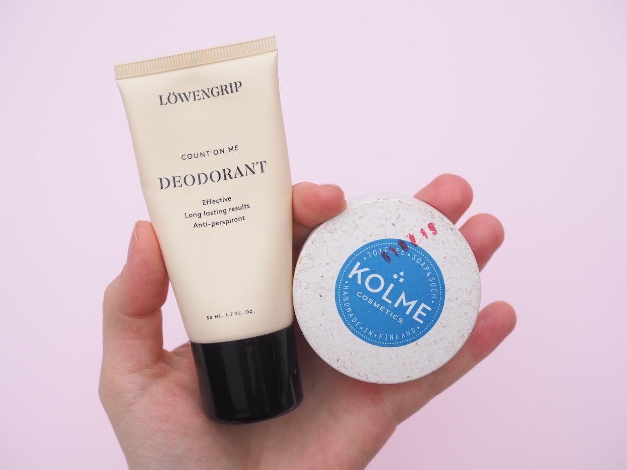 Paras alumiiniton deodorantti luonnonmukainen Kolme Cosmetics
