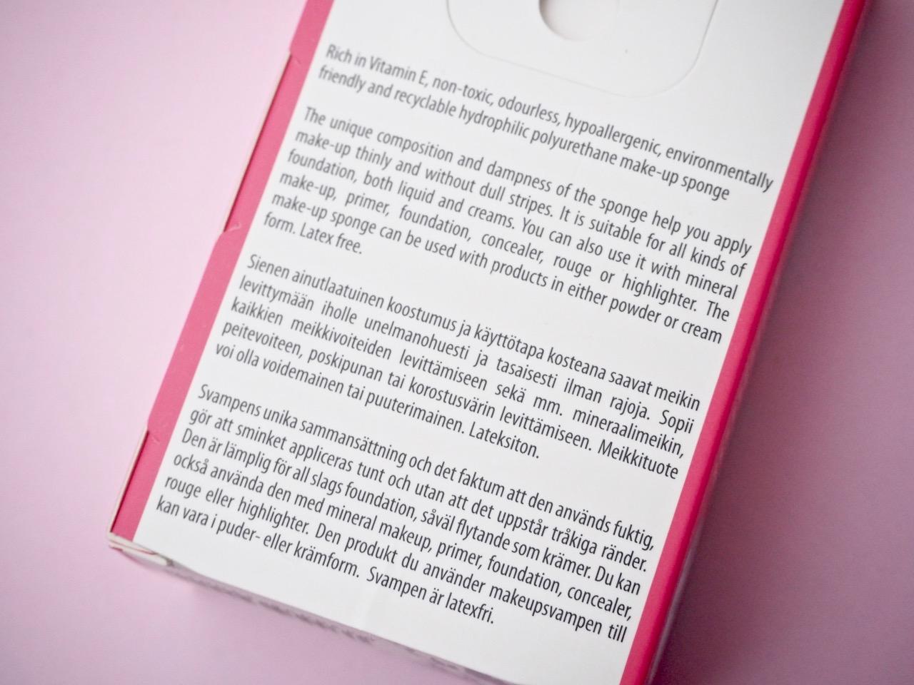 SkinMood lateksiton meikkisieni beautyblender kokemuksia Virve Fredman